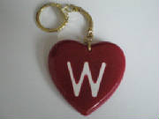 Red Love Heart Initial Keyrings (A-Z)